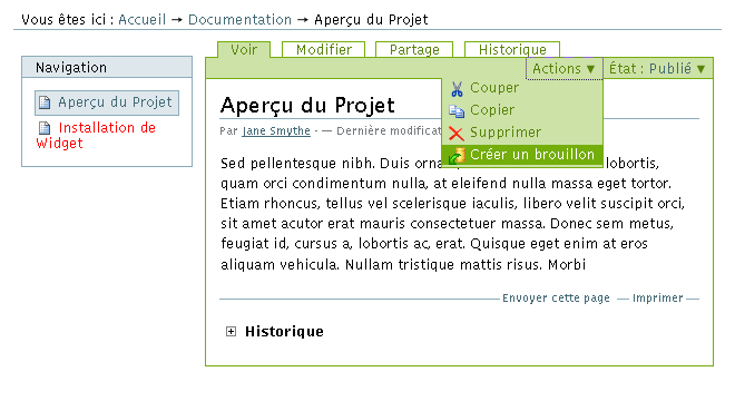 Working Copy - Étape 1- Activation de la fonction