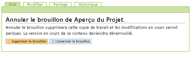 Working Copy - Suppression du brouillon - Etape 2